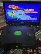 Microsoft Original Xbox System Black Console - power cord - Av- tested working