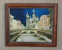Savior Spilled Blood St.Petersburg Oil Canvas Board 10x12 Hand Russian Painting