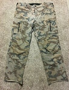 Sleeping Indian Designs Brand Camo Hunting Pants Size 44 Made in USA