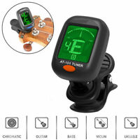 1 Black LCD Clip-on Electronic Digital Guitar Tuner for Chromatic Violin Ukulele