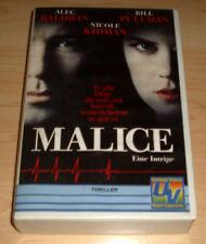 VHS Film - Malice - Eine Intrige - Nicole Kidman - Alec Baldwin - Videokassette