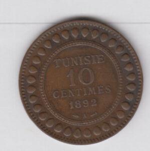 TUNISIA TUNISIE 10 Centimes 1892 copper (tun195)