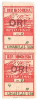 1947 Indonesia Stamp Japanese Occ. General Revenue Opvt ORI 15s MLH Imperf B2