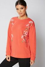 Be You Red Floral Rubber Print Red Sweatshirt/Jumper - Size: 12/14