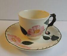 Estate Villeroy & Boch Wild Rose Flat Cup & Saucer