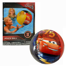 6 Inflatable Beach Balls Toy Disney Cars 3 Lightning Mcqueen POOL PARTY FAVORS