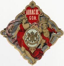 Vintage Spirits Label for Arrac de Goa, Arrack from India