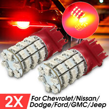 2x 3157 60SMD Red LED Tail Brake Stop Rear Turn Signal Lights Bulbs 3457 3057
