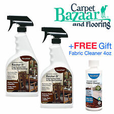 2 ForceField Restore-It Furniture Polish 22oz ea + FREE Gift Fabric Cleaner 4oz