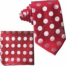 Men's Self tie Neck ties And Pocket Square Set BIG STRIPES POLKA DOT Prom Formal