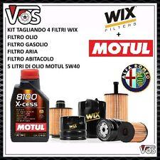 KIT TAGLIANDO 4 FILTRI+5 LITRI OLIO MOTUL 5W40 PER ALFA ROMEO 147 1.9 JTD JTDM