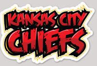 Kansas City Chiefs Diecut Graffiti Sticker Decal