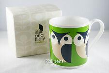 Orla Kiely Olly Owl Mug, Green with Gift Box