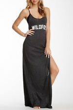 WILDFOX Couture Classic Fox Jet Set Maxi Dress Clean Black M NWT $132