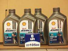 Shell Advance Ultra 4t 15w-50/UFI FILTRO OLIO DUCATI 989 992 996 998 999 tutti