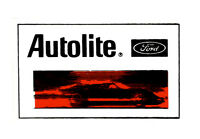AUTOLITE FORD DRAG RACE HOT RAT ROD RACING DECAL VINTAGE LOOK STICKER DECAL