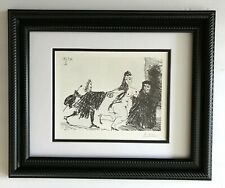 "PABLO PICASSO ORIGINAL 1969 SIGNED PRINT FROM ""347"" MATTED 11 X 14 + LIST $895"
