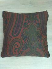 "Ralph Lauren GREYCLIFF Paisley Down Throw Pillow 18""X18"" Sateen Jewel Tones"