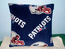 NEW ENGLAND PATRIOTS FLEECE PILLOW BLUE RED L@@K