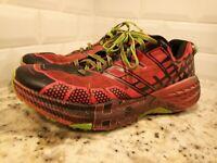 Hoka One One Mens US Size 11.5 Speedgoat 2 Grenadine Jasmine Green running shoes