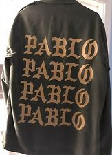 Kanye West Pablo Military jacket -Denim.  Rare non-camouflage. 100% authentic.