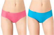 Sloggi Wow Comfort Hipster Knickers/Pants Pink Grapefruit/Carribean Sea Blue
