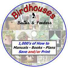BIRDHOUSES - Building - Watching - Feeding -1000's of Plans & Information on CD