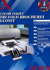 0,10€/St 200 Faltblatt zum erstellen v. Speisekarten Broschüre Tri-Folder Xerox