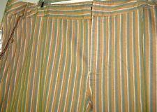 TALBOTS $78 NWT 16WP CAPRI Pants Khaki Aqua Gold  Stripes  Relaxed Leg