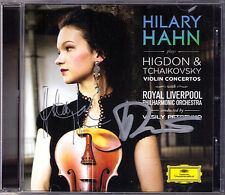 Hilary HAHN & Vasily PETRENKO Signiert HIGDON & TCHAIKOVSKY Violin Concerto CD