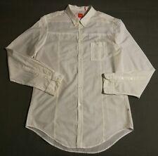 BOSS ORANGE Hemd *Gr. L (50 ) *Weiß Gelb *Gestreift *Tailliert *Baumwolle