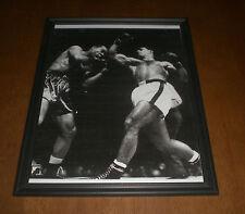 1951 ROCKY MARCIANO vs JOE LOUIS FRAMED B&W PRINT