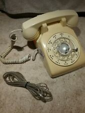 Vintage Retro Western Electric Bell System Cream Color Rotary Dial Desk Phone