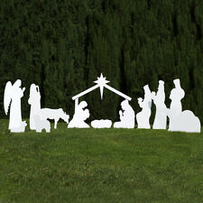 Outdoor Nativity Store Complete Outdoor Nativity Set (Standard, White)