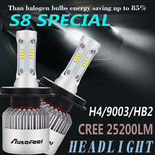 Pair CREE 252W 25200LM H4 9003 HB2 LED Headlight Kit Bulbs High/Low Beam 6500K