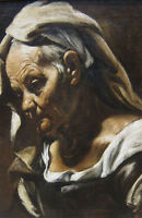 """perfect oil painting handpainted on canvas """"Head of an Old Woman""""@N8180"""