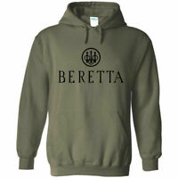 Beretta Black Logo Hoodie Sweatshirt 2nd Amendment Pro Gun Rights Rifle Pistol
