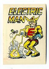 General Mills / Donruss 1983 Zero Heroes Sticker Card #65 Electric Man
