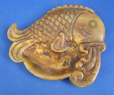 CHINESE JADE FISH SHAPE BIXI--410g