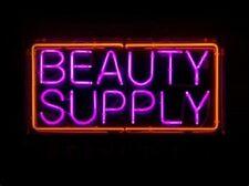 "New Beauty Supply Bar Pub Wall Decor Acrylic Neon Light Sign 17""x14"""