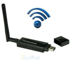 Dual Band 300Mbps 2.4/5Ghz Wireless-N USB WIFI Adapter LAN Internet W/ Antenna