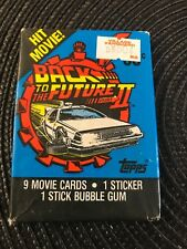 Back To The Future Part II Trading Cards Packet 9 Cards