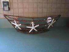 Open Starfish & Wicker Basket New