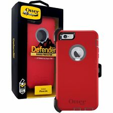 OTTERBOX iPhone 6/6s Defender Series Case Fire Within (Scarlet Red) w/ Belt Clip