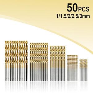 50PCS Micro Round Shank Drill Bits Set Small Twist Drill Tool Mini Drill Bit DIY
