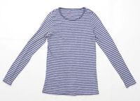 Noa Noa Womens Size S Striped Cotton Purple Top (Regular)