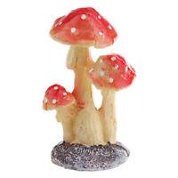 Resin Mini Mushroom Figurine Figure for Garden Grassland Decors Ornament