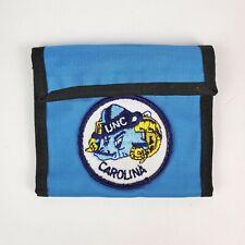 80's Vintage Designer Nylon UNC Carolina Tarheels Wallet Bifold Hook & Loop NOS