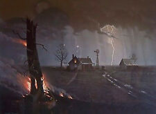 Jesse Barnes THE BURNING TREE S/N paper art print MINT w/COA by Painter of Light