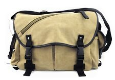 Khaki Canvas Carry Shoulder Messenger Bag can be used as a camera bag
